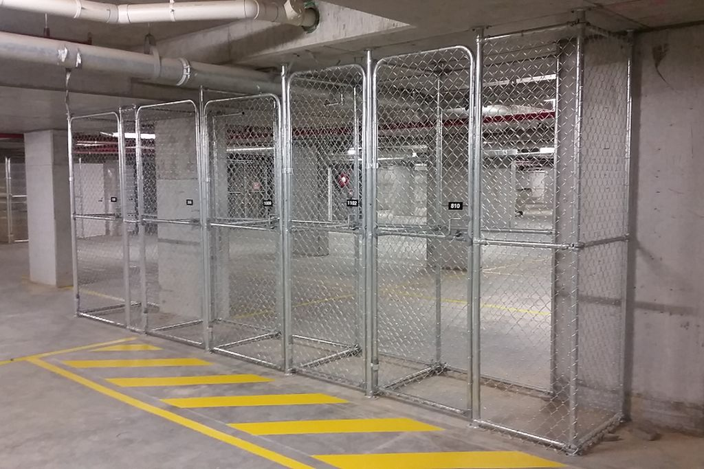 Storage Cages Fencing Logistics